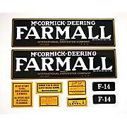 Farmall F-14: Mylar Decal Set