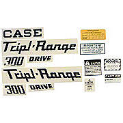Case 300 Triple Range: Mylar Decal Set