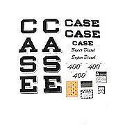 Case 400 Script Super Diesel: Mylar Decal Set