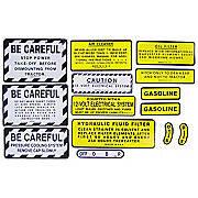 IH 460 Gas: Mylar Misc Decal Set --  14 Pieces