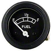 12 Volt Negative Ground Fuel Gauge With Black Bezel