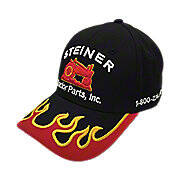 Black Hat with Red Flame