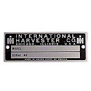 Blank Serial Number Tag With Rivets