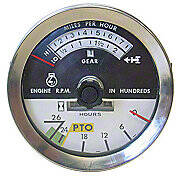 International Tachometer With Knob -- Fits IH 706, 806, 1206 & More