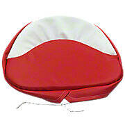 Tractor Seat Pad  ---  Red & White