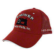 Red Mesh Cap, Steiner Tractor Parts, Inc. Baseball Hat