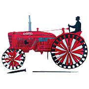 Farmall Tractor Spinner (Yard Ornament)
