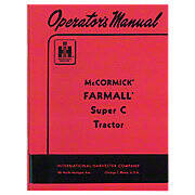 Operators Manual: Farmall Super C