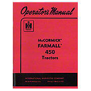 Operators Manual: Farmall 450