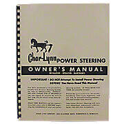 Char-Lynn Power Steering Owners Manual