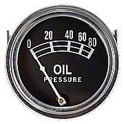 Universal Oil Pressure Gauge (0 - 80 PSI)