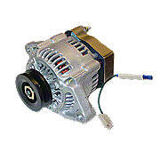 Mini 41 Max Amp 12 Volt  Alternator With Pulley And Diode
