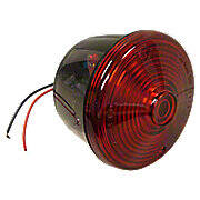 12 Volt Round Red Tail Light Assembly With License Lamp Window