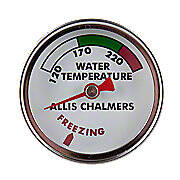 Allis Chalmers Water Temperature Gauge with white face