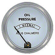Oil Pressure Gauge, White Face (0-30 PSI)