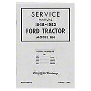 1948-1952 Ford Shop Service Manual - Model 8N