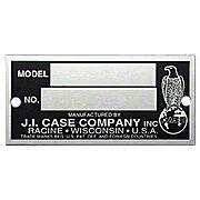 Serial Number Tag -- Fits Case 200B, 300B, 400 & Many More!