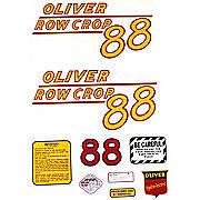Oliver 88 Rowcrop: Mylar Decal Set
