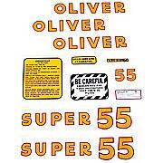 Oliver Super 55: Mylar Decal Set