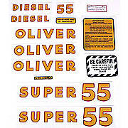 Oliver Super 55 Diesel: Mylar Decal Set