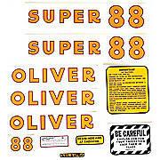 Oliver Super 88: Mylar Decal Set