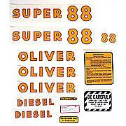 Oliver Super 88 Diesel: Mylar Decal Set