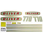 Oliver Early 770 Gas: Mylar Decal Set