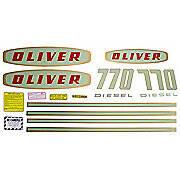 Oliver Early 770 Diesel: Mylar Decal Set
