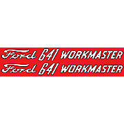 Ford 641 Workmaster:  Mylar Hood Decals, Pair