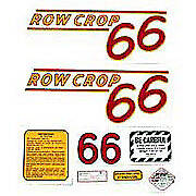 Oliver 66 Rowcrop: Mylar Decal Set