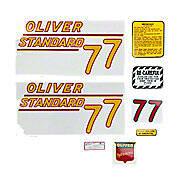 Oliver 77 Standard: Mylar Decal Set