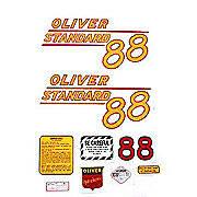 Oliver 88 Standard: Mylar Decal Set