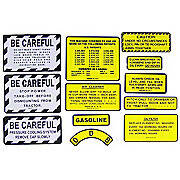 IH 100, 130, 140 Gas: Mylar Misc Decal Set --  12 Pieces