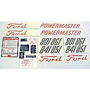 Ford 801 - 861 Series 1958 - 1962: 20-Piece Mylar Decal Set