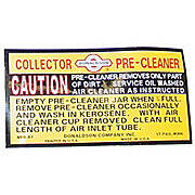 Decal For IH Precleaners, Collectors
