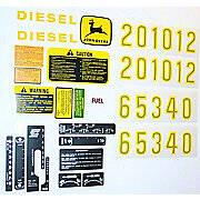 JD 2510, 2520, 3010 +, Complete Mylar Decal Set