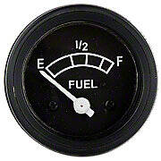 Fuel Gauge With Black Bezel (Positive Ground)