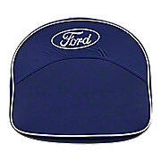 Blue And White Tractor Seat Cushion