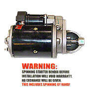 New 12 Volt Starter With Drive (Bendix)