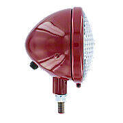 Complete headlight assembly, red, 12V   ---   Fits many Farmall models