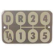 Transmission Shift Pattern Plate