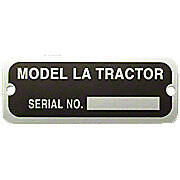 Serial Number Tag With Rivets