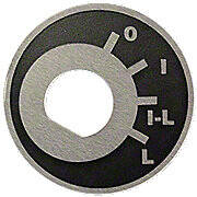 Ignition & Light Index Switch Plate