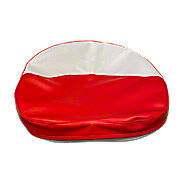 Red And White Tractor Seat Cushion