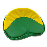 Green & Yellow Tie On Seat Pad