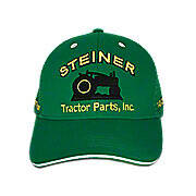 Green Mesh Cap With Yellow Embroidery, Steiner Tractor Parts, Inc. Baseball Cap