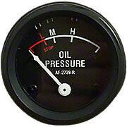Oil Pressure Gauge (0-55 PSI) - Dash mounted, Black Face