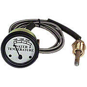 Water Temperature Gauge with white face and 6' lead