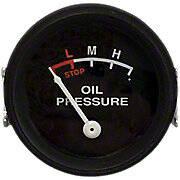 Oil Pressure Gauge (0-25 PSI) - Dash mounted, Black Face
