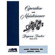 Feguson To20 Operation & Maintenance Manual